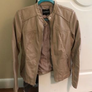 Express Tan Leather Jacket